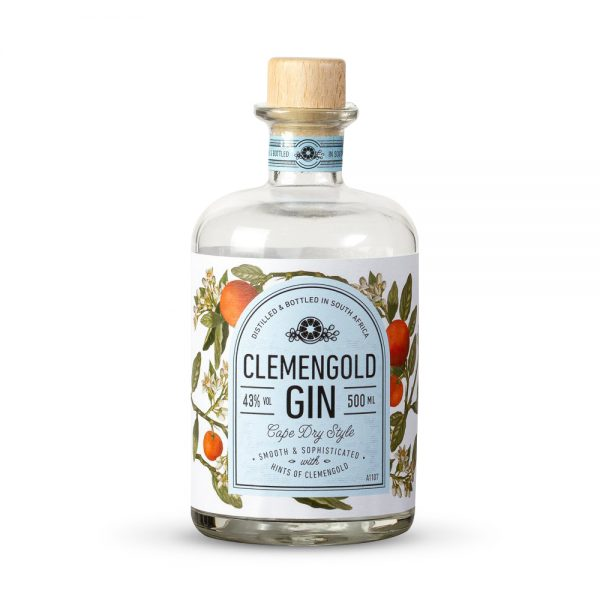 ClemenGold gin is a citrus infused gin produced in the Western Cape and is a classic Cape Dry style drink.