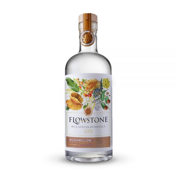 Flowstone Bushwillow gin is infused with Bushwillow seed pods and produced in Gauteng, South Africa.