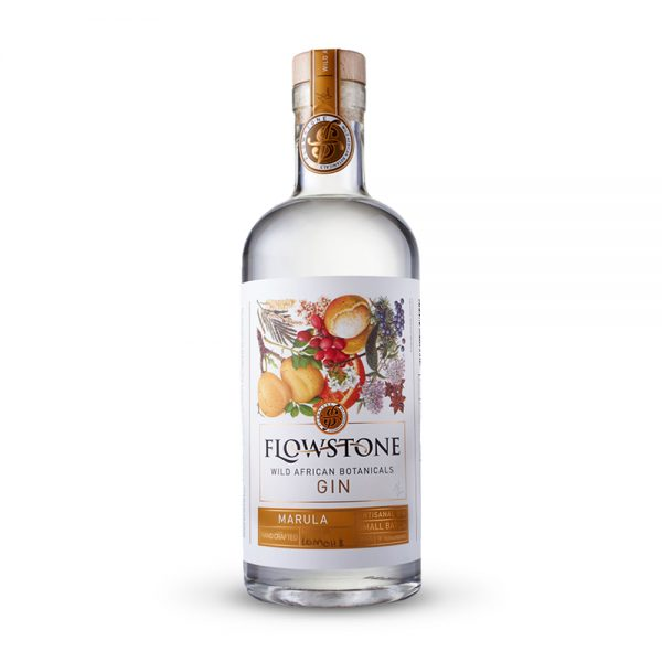 Flowstone Marula gin is infused with the Marula fruit and produced in Gauteng, South Africa.