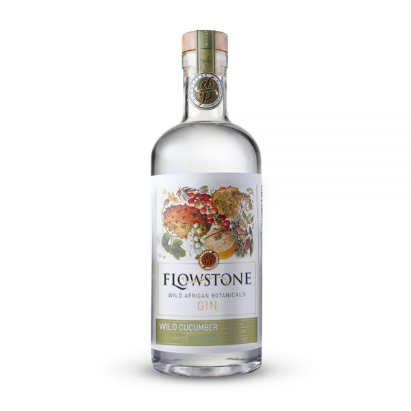Flowstone Wild Cucumber gin is infused with the African horned melon and produced in Gauteng, South Africa.