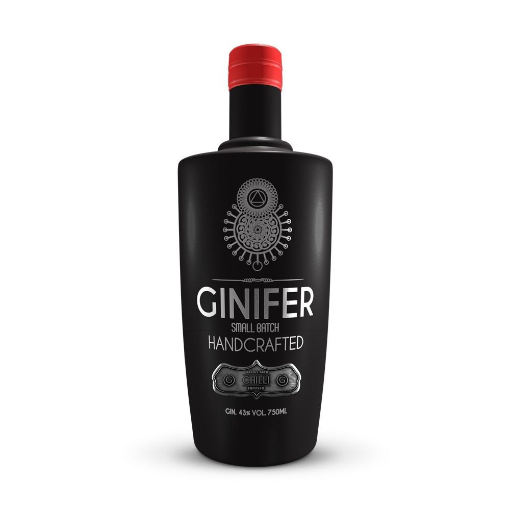 Ginifer Barrel Aged Chilli Infusion gin is infused with chillis and produced in Gauteng, South Africa.