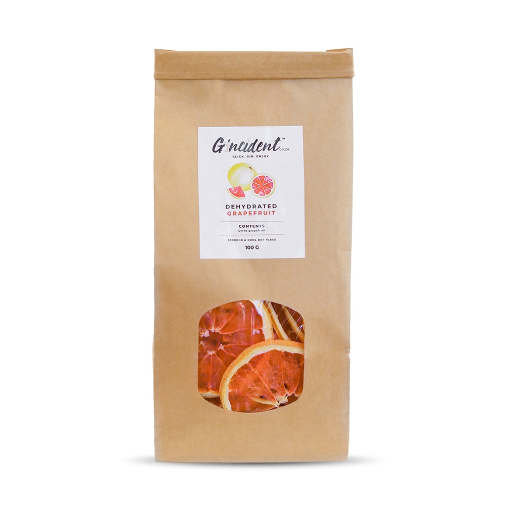 Gincident's Dehydrated Grapefruit is produced in South Africa.