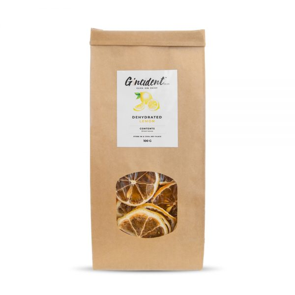 Gincident's Dehydrated Lemon is produced in South Africa.
