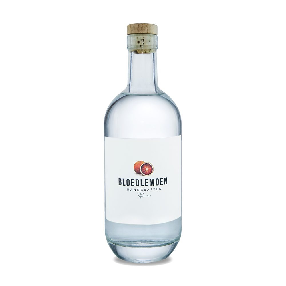 Bloedlemoen gin is infused with blood oranges and produced in the Western Cape of South Africa.