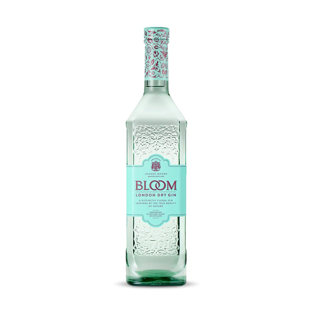Joanne Moore Bloom gin is a sugar-free, vegan, gluten-free gin made in England.
