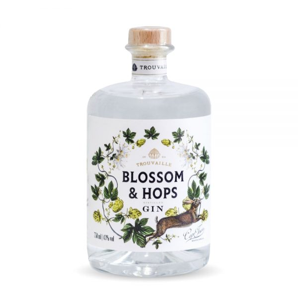 Trouvaille Blossom & Hops gin is produced in the Western Cape of South Africa.