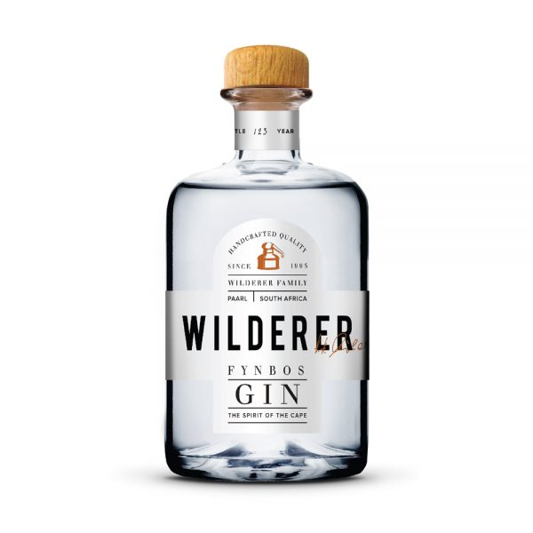 Wilderer Fynbos gin is infused with fynbos botanicals and is produced in the Western Cape of South Africa.