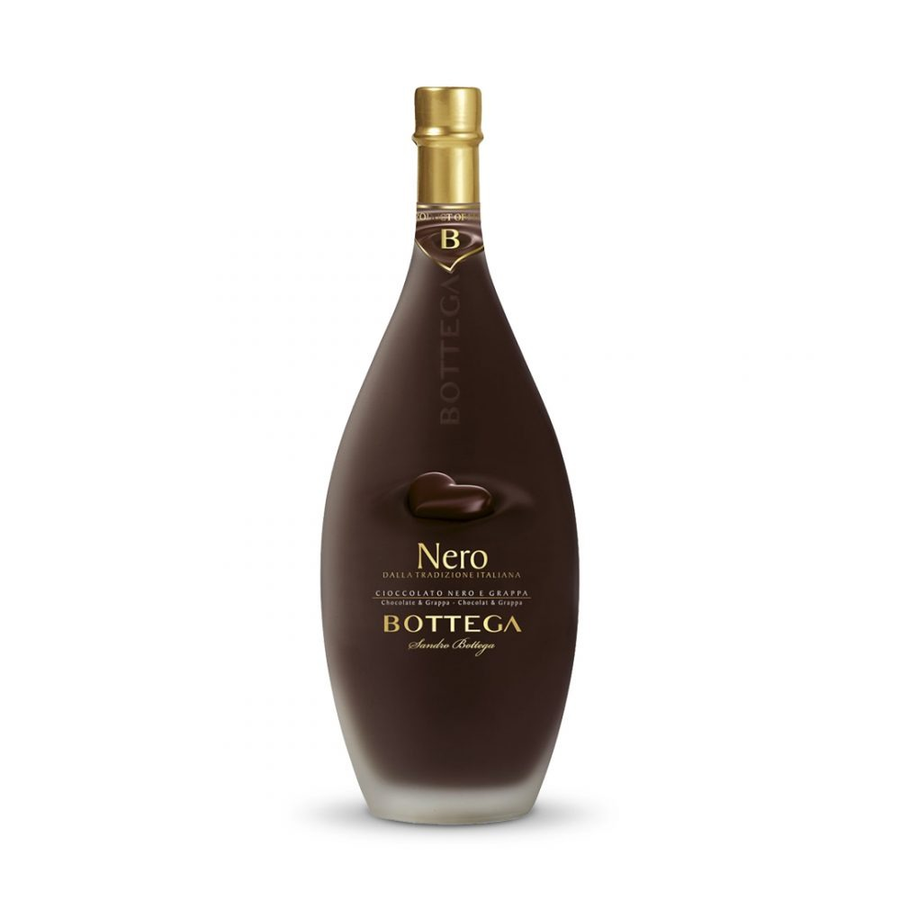 Bottega Nero Grappa is produced in Italy.