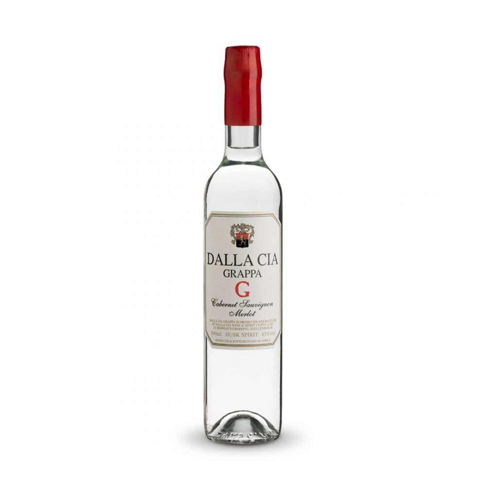 Dalla Cia Grappa Cab Merlot is produced in Italy.