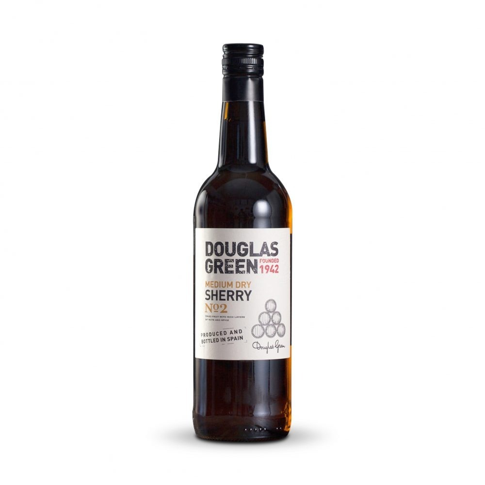 Douglas Green Medium Dry sherry is produced in Spain.