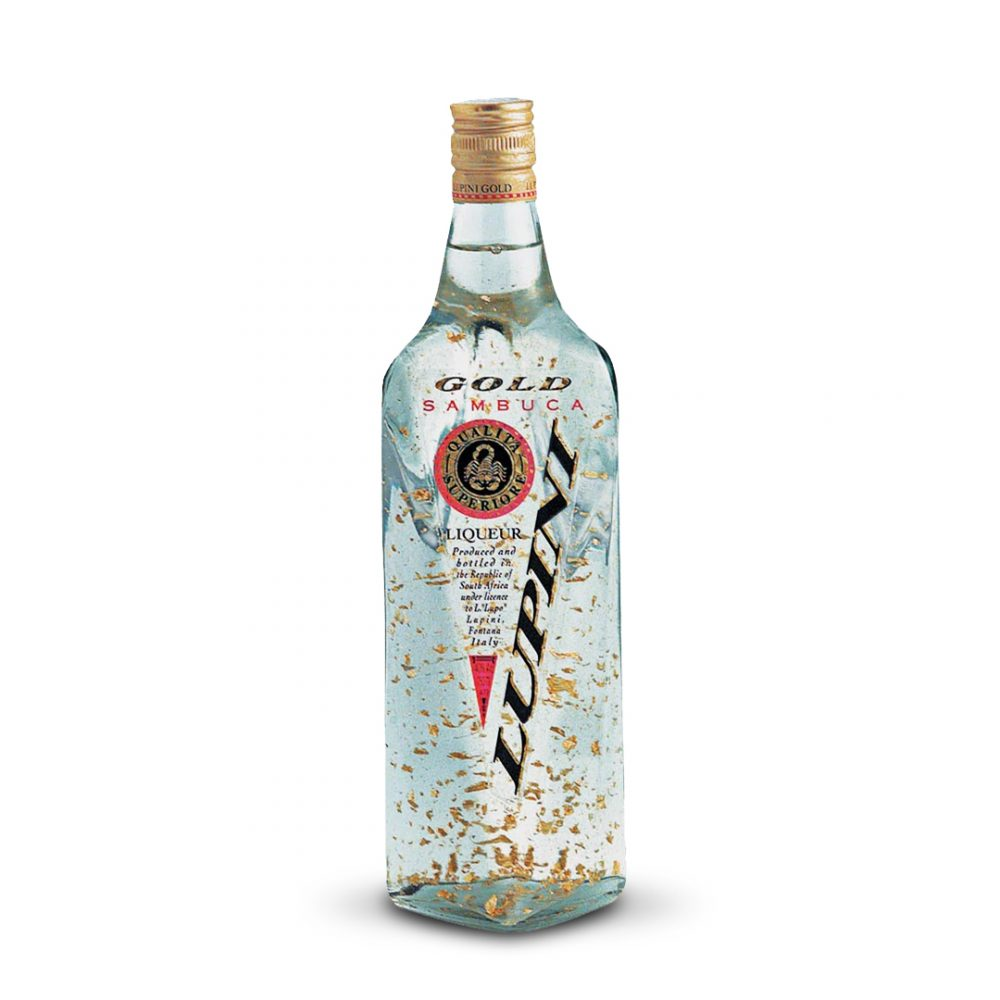Lupini Gold Sambuca is produced in South Africa.