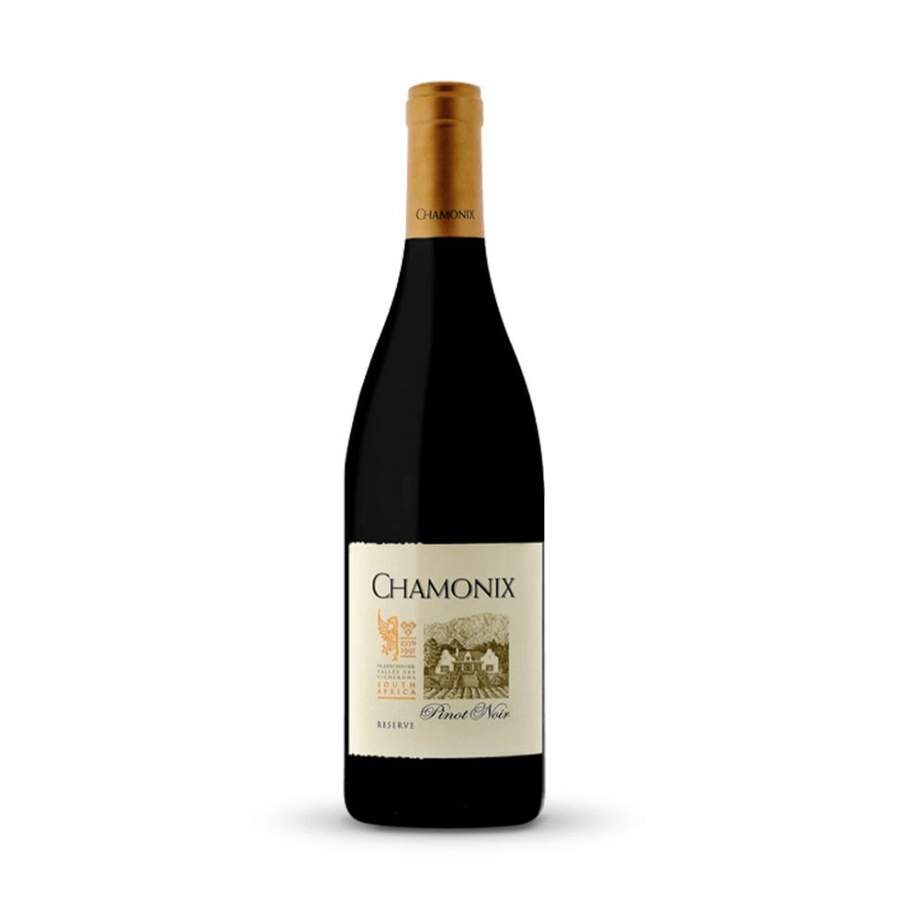 Chamonix Reserve Pinot Noir is produced in South Africa.