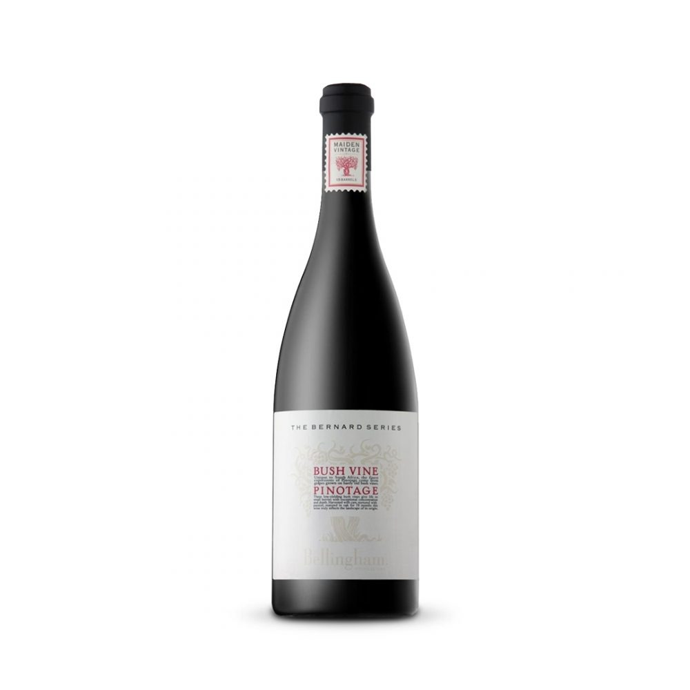 Belligham The Bernard Series Bush Vine Pinotage is produced in South Africa.