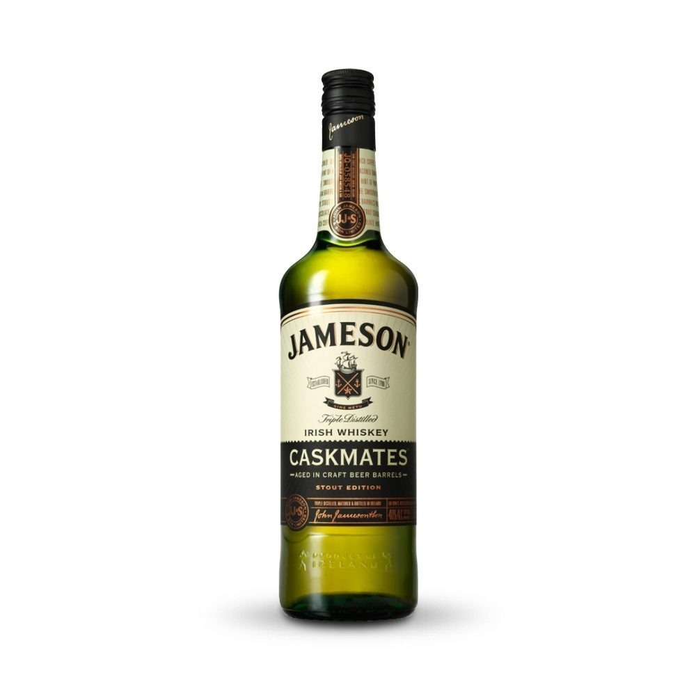 Jameson Caskmates Stout Whiskey is produced in Ireland.