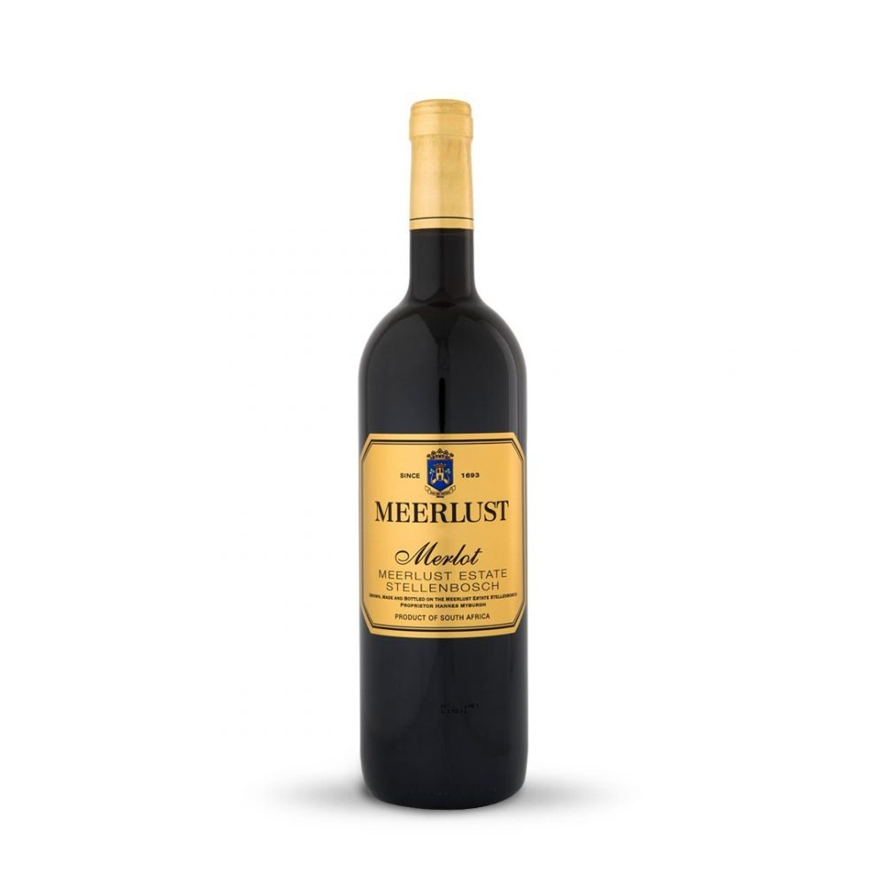 Meerlust Merlot is produced in South Africa.