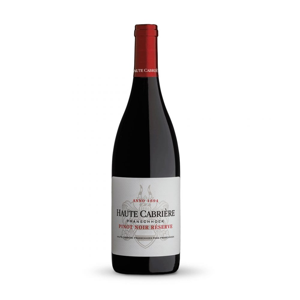 Haute Cabriere Pinot Noir is produced in South Africa.