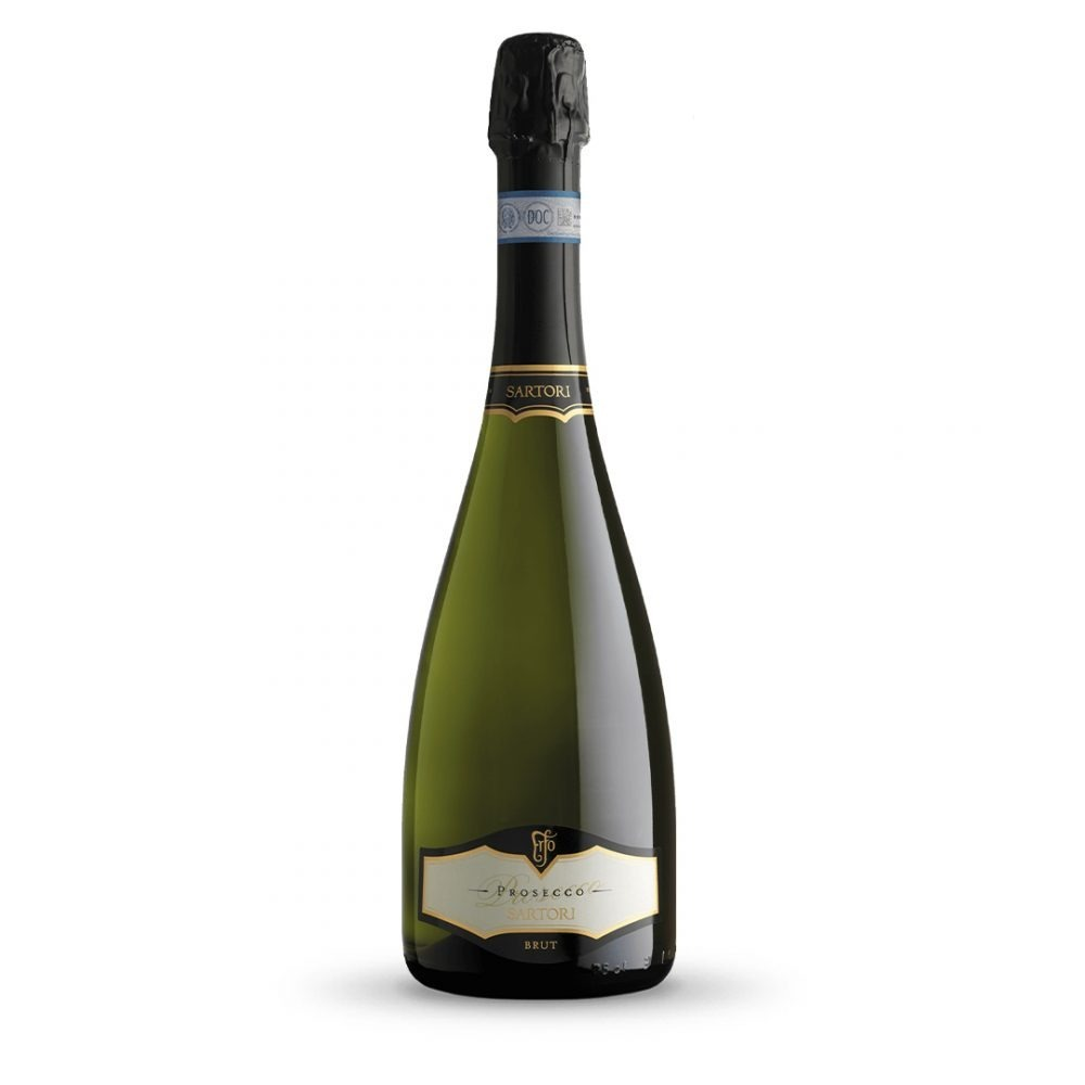 Sartori Prosecco Brut is produced in Italy.