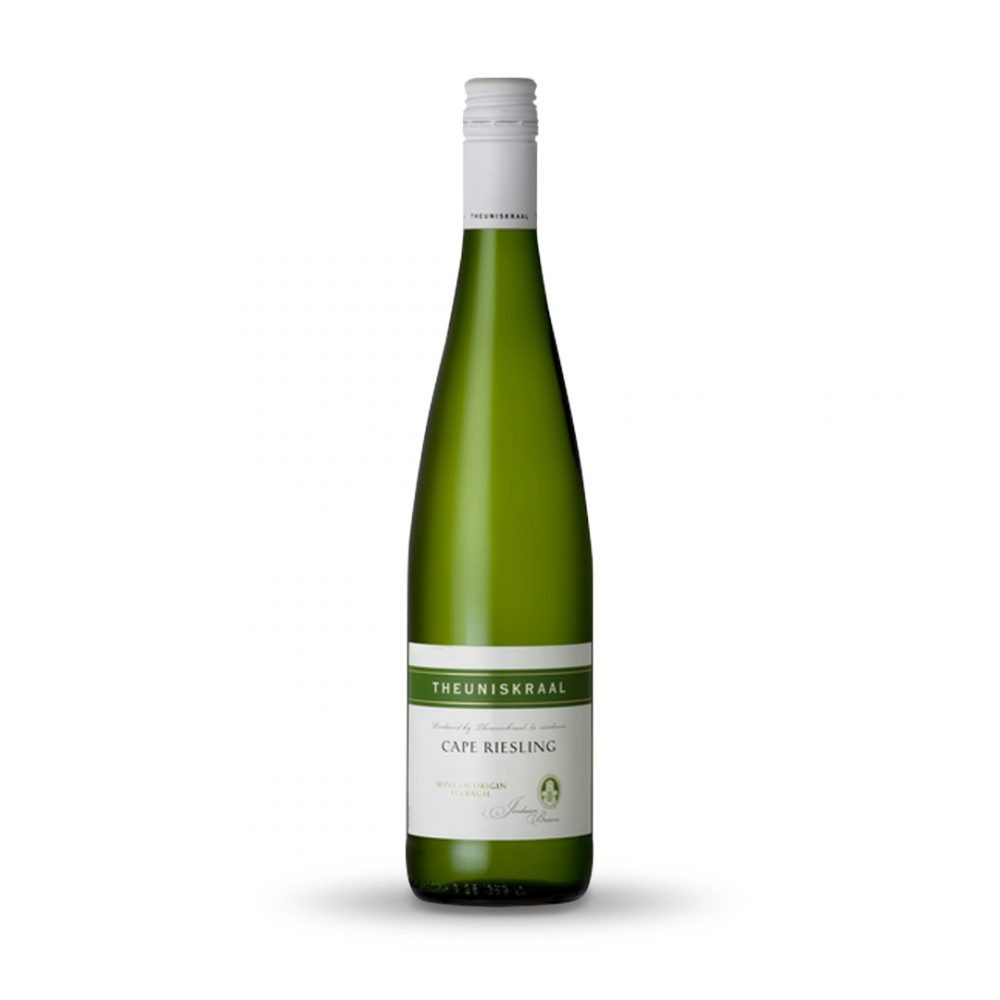 Theuniskraal Cape Riesling is produced in South Africa.