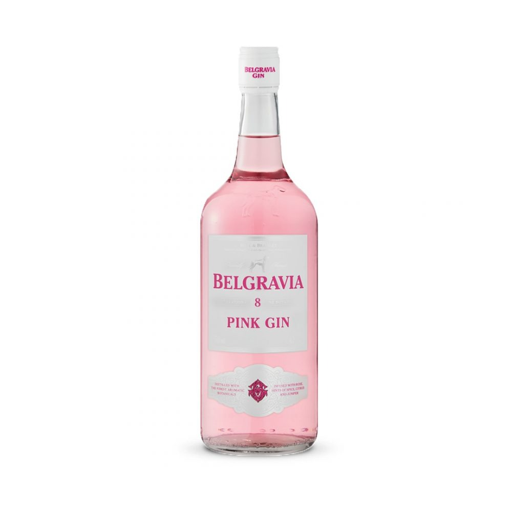 Belgravia Pink gin is produced in South Africa.